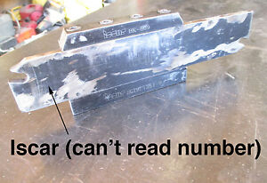 Large Lathe Iscar Parting Tool Holder 2 Blade no Inserts South Bend ssi