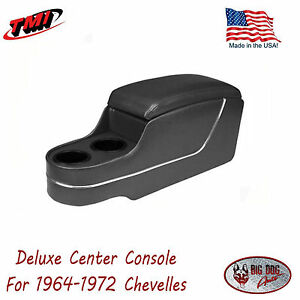 Black Deluxe Console For 1964 1972 Chevelle By Tmi In Stock Ships Now