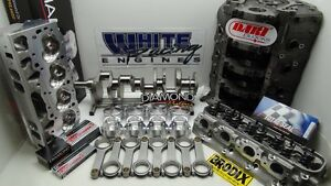 Bbc 588 Chevy Cid 4340 Kit 4 Bolt Splayed Dart Block Brodix Aluminum Heads