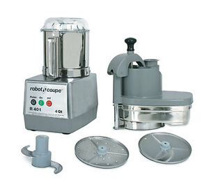 Robot Coupe R401 Combination Continuous Feed Food Processor W 4 5 Qt Gray Bowl