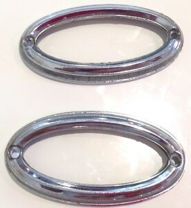 1977 1978 Buick Riviera Genuine Vintage Side Roof Opera Light Lens Chrome Bezel