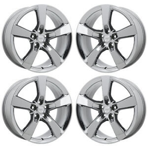 20 Chevy Camaro Ss Pvd Chrome Wheels Rims Factory Oem Set 5443 5445 Exchange