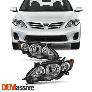 Fit 2011 2013 Toyota Corolla Headlights Replacement Lamps Light Left Right