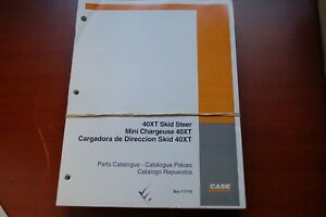 Case 40xt Skid Steer Loader Parts Manual Book Catalog Spare List 7 7170 Owner