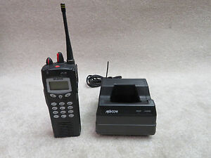 Ma com Harris P7100 Ip 2 Way Radio With Desktop Charger Macom No Battery