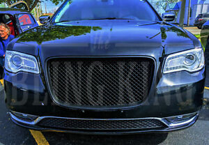 Fits 15 2020 Chrysler 300 Black Mesh Grill Bentley Grille Full Replacement Trim