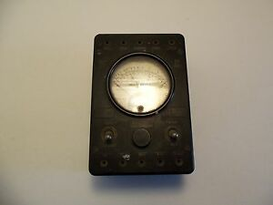 Vintage Western Electric Weston 697 Analog Multimeter Ohm Volt
