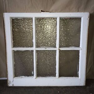 Old Antique Florentine Privacy Glass Wood House 6 Lite Window Sash 1776 16