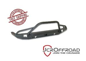 Jcr Offroad Defender Prerunner Front Bumper W Hitch Black Pc 84 01 Jeep Xj