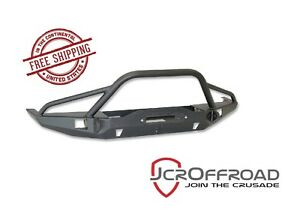 Jcr Offroad Vanguard Prerunner Front Winch Bumper Black Pc 84 01 Jeep Xj