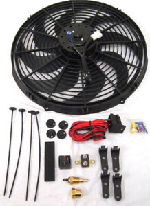 16 Electric Fan 3000 Cfm Wiring Install Kit Complete Thermostat 60 Amp Relay