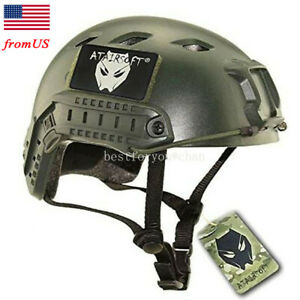 Airsoft Tactical Fast BJ Type Base Jump Helmet w Side Rail Bicycle Hiking OD