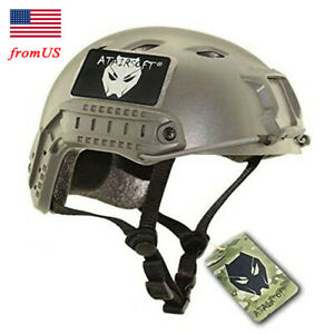 Airsoft Tactical Fast BJ Type Base Jump Helmet w Side Rail Bicycle Hiking FG