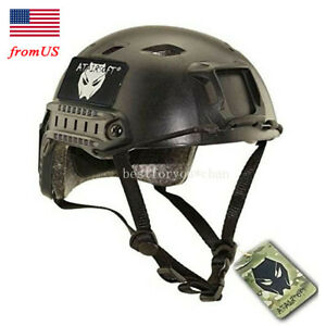Airsoft Tactical Fast BJ Type Base Jump Helmet w Side Rail Bicycle Hiking Black