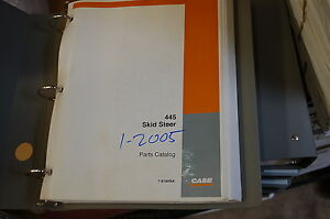 Case 445 Mini Skid Steer Uni Loader Parts Manual Book Catalog Spare List 2005
