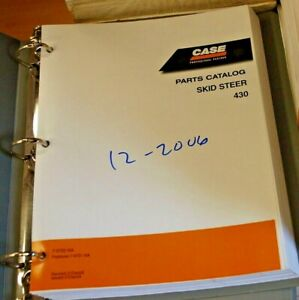 Case 430 Mini Skid Steer Uni Loader Parts Manual Book Catalog Spare List 2006