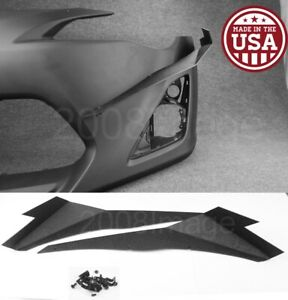 V3 Pair Black Abs Front Bumper Lip Canard Splitter Diffuser For 13 16 Scion Frs