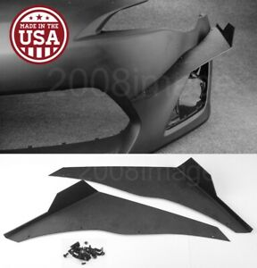V1 Pair Black Abs Front Bumper Lip Canard Splitter Diffuser For 13 16 Scion Frs