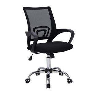 Modern Mesh Mid back Office Chair Computer Desk Task Ergonomic Swivel Black blue