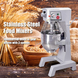 Hakka 30 Quart Commercial Planetary Mixers 3 Funtion Stainless Steel Food Mixer