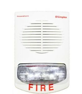 New Simplex 4906 9253 Wall Mount Red Horn Strobe
