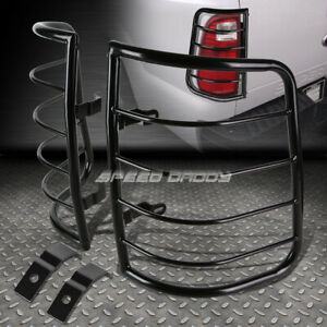 For 09 16 Ram Pick up Black Stainless Steel Tail brake Light lamp Cage Guard