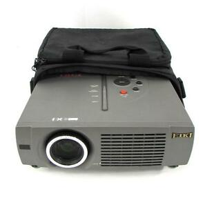 Eiki Lc sm4 Lcd Mini Travel Projector Comes W Protective Bag Lot Qty 3 Avail