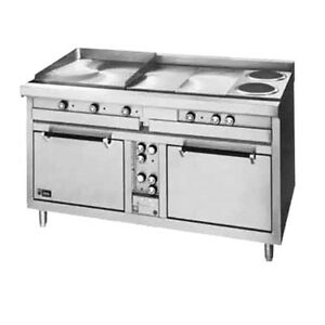 Lang R60s atj 60 Electric Range W 24 Griddle 6 French Plates