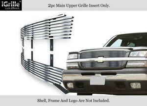 Fits 2003 2006 Chevy Avalanche 03 05 Silverado 1500 Stainless Billet Grille
