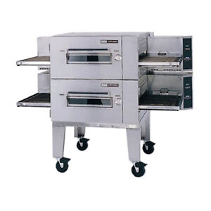 Lincoln 1600 2g Gas Low Profile Double Stack Conveyor Pizza Oven