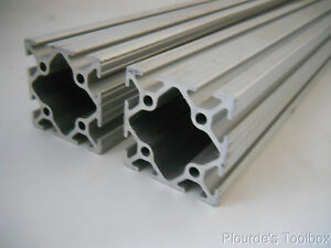 Lot Of 2 New 80 20 Ind 2 By 2 T slot Aluminum Extrusions 33 Long 2020 33