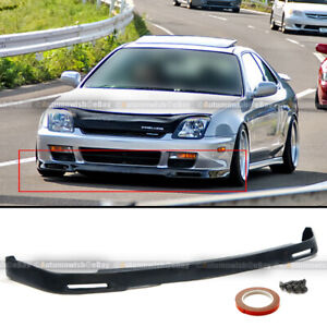 Fits 97 01 Prelude Unpainted Polyurethane P1 Style Front Bumper Lip Body Kit