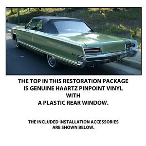 Chrysler Newport And 300 Convertible Top Do It Yourself Pkg 1965 1966