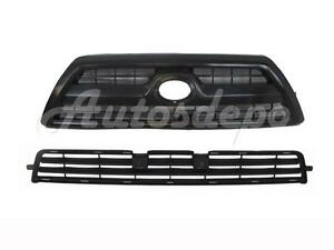 For 2008 2009 4runner Limited Front Bumper Lower Grille Grille Black