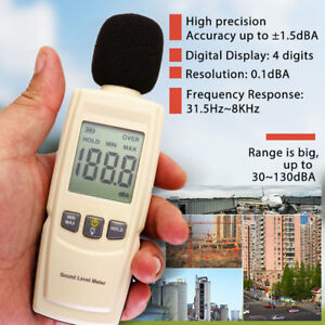 Digital Sound Decibel Meter Pressure Noise Level Tester Measurement 30 130db Lcd