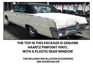 Chrysler Imperial Convertible Top Do It Yourself Pkg 1964 1966