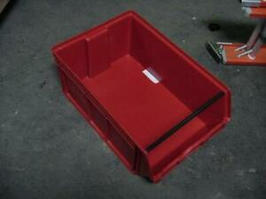 Quantum Storage Qms743rd 1vh59 Red Plastic Stackable Bin 162566