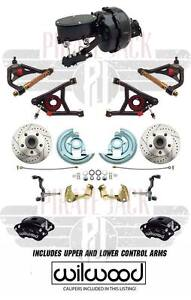 1964 72 Chevelle Wilwood Calipers 9 Dual Pwr Disc Brake Kit Tubular A Arms