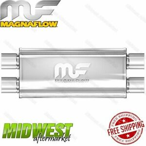 Magnaflow Stainless Steel 3 Dual In 3 Dual Out Straight Through Muffler