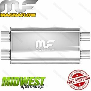 Magnaflow Stainless Steel 3 Dual In 2 5 Dual Out Straight Through Muffler