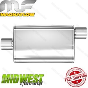 Magnaflow Stainless Steel 2 5 Center In 2 5 Offset Out Multi chamber Muffler