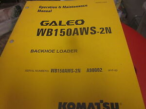Komatsu Wb150aws 2n Backhoe Loader Operation Maintenance Manual 2004