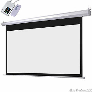 100 Motorized Power Remote Controlled Tv Movie Theater Video Projector Screen