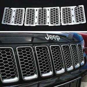 Chrome Front Grill Mesh Grille Insert Fits For Jeep Grand Cherokee 2014 2016