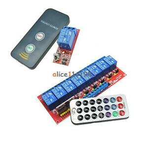 1 8 Channel Infrared Remote Control Switch Relay Multi function 5 12v Led