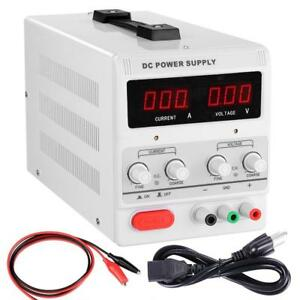 Industrial 10 Amp 30 Volt Adjustable Digital Dc Power Supply Box Kit W Clip Cord