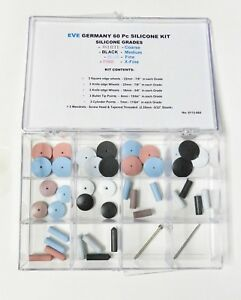 Silicone Polishing Wheel Assortment Kit 60 Pieces Eve Germany Jewelry Polishers