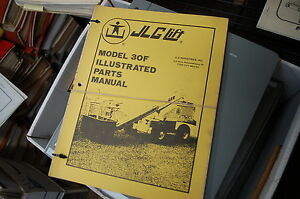 Jlg 30f Telescoping Boom Man Lift Parts Manual Book Catalog Spare 1979 Owner Oem