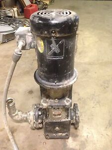 Grundfos Cr8 30 Pump And Motor 3 Hp 3 Phase 42 Gpm 230 Psi