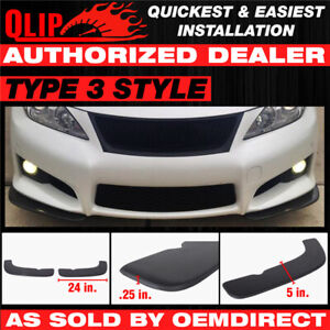 For Celica Type 3 Quick Lip Universal Front Bumper Lip Splitter 2pc 24x5 Inch